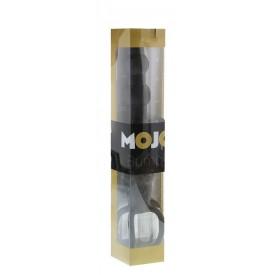 Черная насадка на пенис для двойной стимуляции Mojo BlackJack - 15 см.
