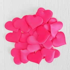 Набор розовых декоративных сердец - 25 шт.